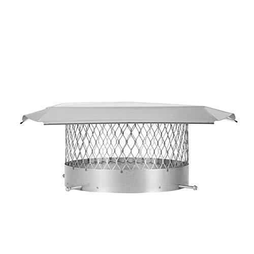 Draft King SS12U Round Bolt On Stainless Steel Single Flue Chimney Cap, 12' Diameter