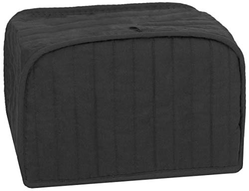 Mejor RITZ Polyester / Cotton Quilted Four Slice Toaster Appliance Cover, Dust and Fingerprint Protection, Machine Washable, Black crítica 2020