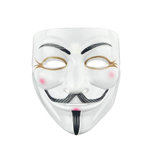 V per Vendetta Maschera anonima Vendetta Halloween Costume di Carnevale Maschera anonima Maschera di Guy Fawkes
