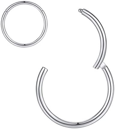8mm Septum Ring Septum Jewelry Seamless Septum Clicker Nose Rings 18 Gauge Nose Ring Hoop 18g product image