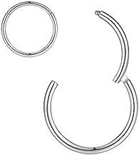 6mm Cartilage Earring Hoop 20g Nose Ring Silver Nose Rings 20 Gauge Helix Hoop Earring Daith Earrings Tragus Earring Surgical Steel Small Hoop Earrings 6mm Nose Hoop Seamless Hinged Septum Clicker