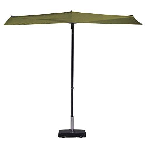 Madison Balkonschirm 50+ UV-Schutz Sonnenschirm Terrassenschirm Ampelschirm Marktschirm Gartenschirm Schirm 270x150cm Salbeigrün Aluminium Stahl