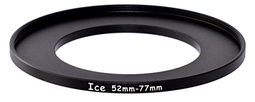 ICE 52mm to 77mm Step Up Ring Filter/Lens Adapter 52 Male 77 Female Stepping Adapter