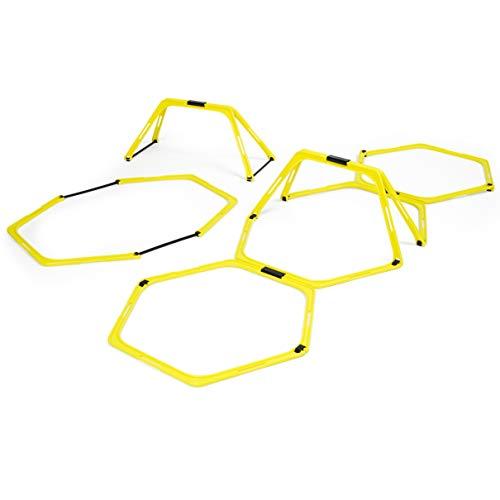 Sport-Thieme Koordinationsleiter Multifunktional | 6X Hexagon-Elemente als Agility-Leiter u. Hürden kombinierbar | Robuster Kunststoff inkl. Transporttasche | L: 3,6 m, H: 23 cm