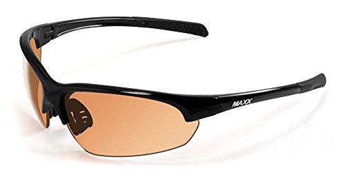Maxx Sunglasses TR90 Maxx Domain HD Black Amber Lens