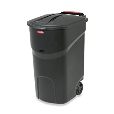 2-Pack Wheeled Trash Garbage Container