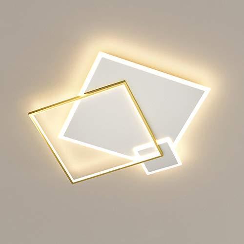 Lámpara LED de Techo Regulable Para Dormitorio Salón Decoración Diseño Moderno Colores de Techo Lámpara Para Salón Habitación de Los Niños Pantalla de Silicona de Metal con Mando a Distancia, 48W
