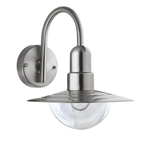 MAXKOMFORT® Außenleuchte Wandleuchte Außenwandleuchte Bogenleuchte Bogenlampe E27 Lampe Wandlampe Leuchte Außenlampe (157CDN)