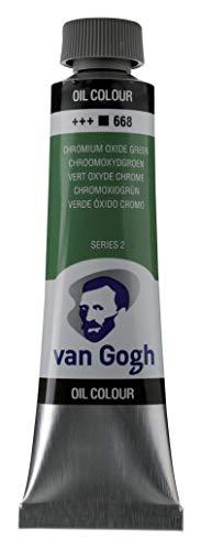 Van Gogh Oil Color Paint, 40ml Tube, Chromium Oxide Green 668