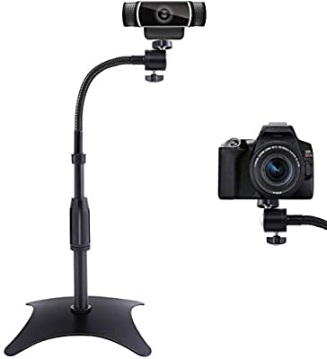 OXENDURE Webcam Stand Camera Mount with Anti-Tipping Weighted Base,for Logitech Webcam C925e C922x C922 C930e C930 C920 C615,GoPro Hero 8/7/6/5,Arlo Ultra/Pro/Pro 2/Pro 3/Brio 4K,DSLR Action Camera from OXENDURE