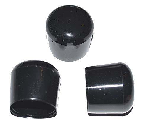 25 x Kappe für Rundrohr D=25/26 mm L= 24 mm schwarz PVC