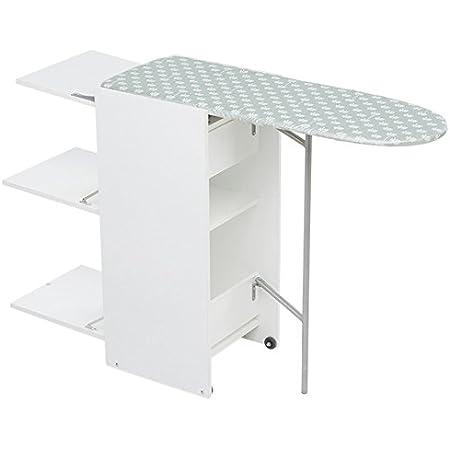 Foppapedretti 9900303310Chariot avec table de repassage 2étagères en bois de peuplier Blanc