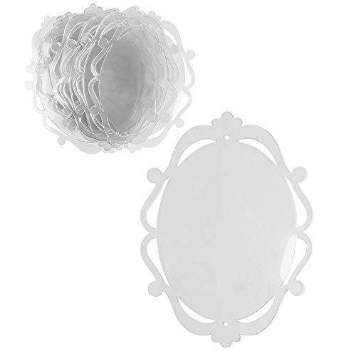Windradfolien-Scheiben | Transparent-Folie | Mobile-Folie | transparent | ausgestanzte Motive mit Loch für Aufhängung | 0,5 mm | 20 Stück (Oval 1 | 13,8cm x 19cm)
