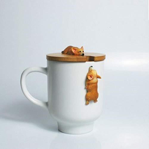 FORHOME creatieve Cartoon 3D Corgi Franse Bulldog keramische mokken schattig grote capaciteit hond bekers Student paar mok voor vriend Cup K3-400ml