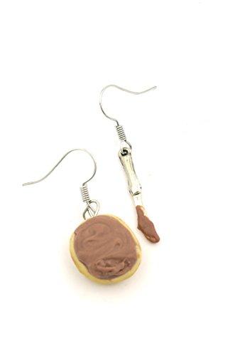 Nuss Nougat Creme Brötchen Ohrringe handmade Ohrhänger Nugat