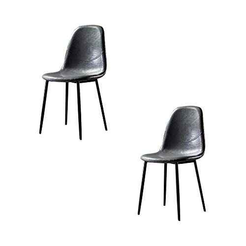 Retro Home Esszimmerstuhl Schmiedeeisen Bürostuhl Wohnzimmer Stuhl Nordic Industrial Style Hocker Rückenlehne moderne minimalistische Schreibtischstuhl Western Esszimmerstuhl bequem und langlebig