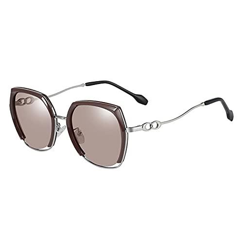 AMFG Gafas de sol polarizadas de metal unisex con UV400 Protección para deportes al aire libre. (Color : B)