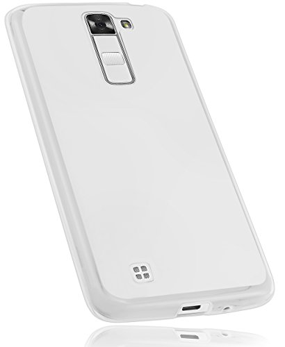 mumbi Funda Compatible con LG K7 Caja del teléfono móvil, Blanco Transparente