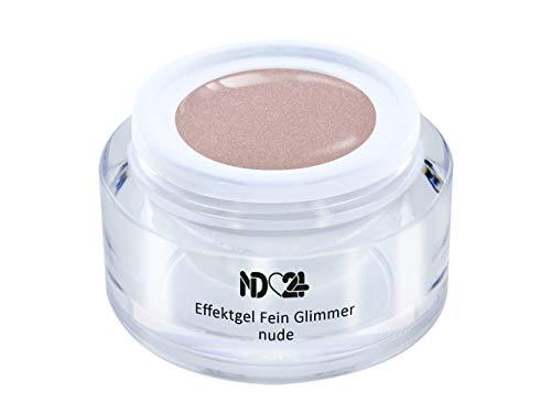 Uv Led Effekt-Gel Fein Glimmer Nude - Braun - Studio Qualität - Made In Germany - 5ml