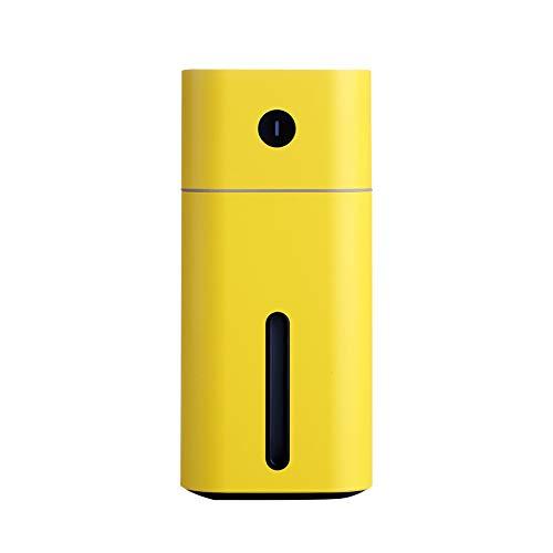 HBHB 180 ml USB-luchtbevochtiger met nachtlampje, 2 modi, luchtbevochtiger, sfeer huis, automatische uitschakeling zonder water, voor slaapkamer, huis en kantoor, 66 x 146 mm
