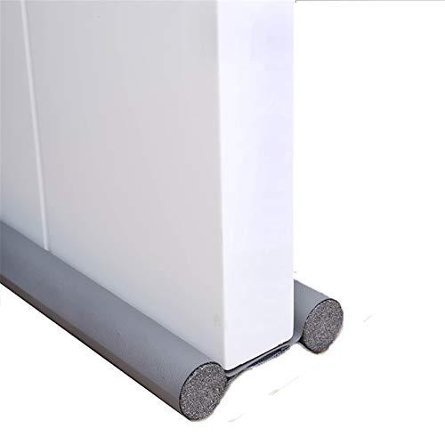 Burlete de puerta para puerta, tira de sujeción inferior de la puerta, aislamiento térmico, cinta selladora antipolvo y antiinsectos para salón y cocina 96 cm, 1 unidad (gris)