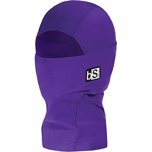 BLACKSTRAP Kids Expedition Hood Dual Layer Balaclava Face Mask, Cold Weather Headwear for Children, Deep Purple