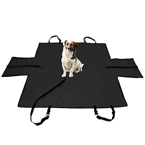 TTXP Manta de Perro para Coche Negro Cama Perro Coche para El Asiento de Viaje del Perro del Arnés de Los Coches