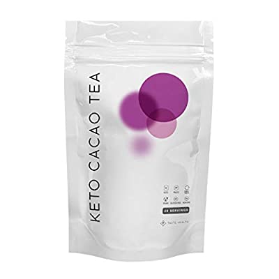 Keto Cacao Tea 28 Day Supply - Organic Detox & Cleanse Tea - Helps with Digestion & Removing Toxins - 100% All Natural - Kosher and Keto Friendly - 28 Sachets by Taste Health