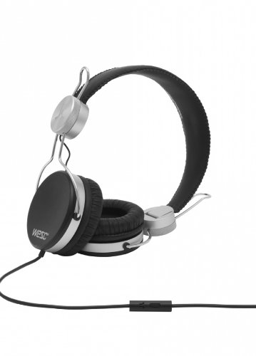 WeSC 0007193999 Banjar - Auriculares supraurales (Incluye Adaptador para teléfonos Sony Ericsson y Nokia), Color Negro