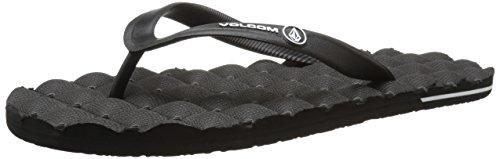 Volcom Men's Recliner Rubber Sandal, Black, 11 M US