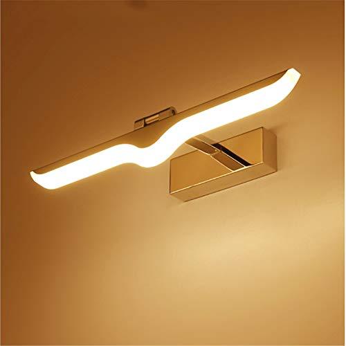 LED Spiegel Lamp, Wandmontage, Inbouw 3In1 Spiegel Lamp Badkamer IP44, Neutraal Wit 2700K, Badkamer 230V Kast Licht Spiegelkast Beacons,Warm light,16W/72CM