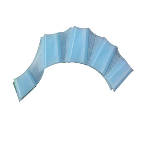 Warmword Silikonhand Schwimmflossen Schwimmflossen Schwimmhandschuh mit Palmfinger-Schwimmhäuten (Himmelblau, L)