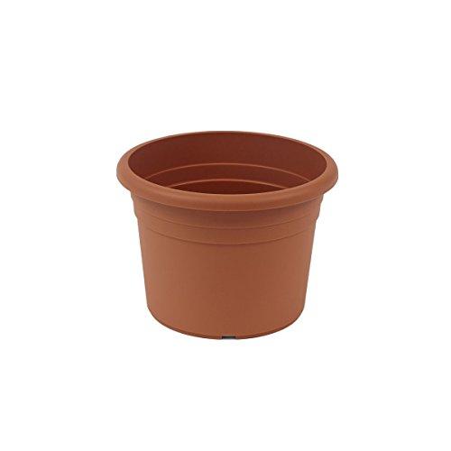 greemotion Pflanzkübel Fiona, UV-Beständiger Blumentopf aus Kunststoff, Pflanzgefäß mit Bodenlöchern, Volumen ca. 1 l, ca. Ø 15 x H 10,6 cm