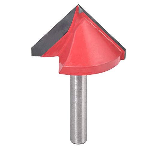 KATUR Broca de 6 mm con vástago y punta de carburo con ranura en V, para grabado CNC, herramienta para trabajar la madera con fresa de extremo (vástago de 6 mm, 32 mm de ancho, 90 grados)