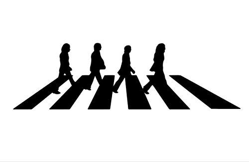 Legacy Innovations The Beatles Abbey Road calcomanía de Vinilo Negro   Coches,...