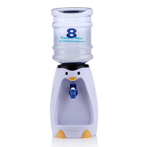 Ouborui Mini dispensador de agua de escritorio dispensadores de bebidas pingüino con botella de 2,5 l para el hogar cocina escuela