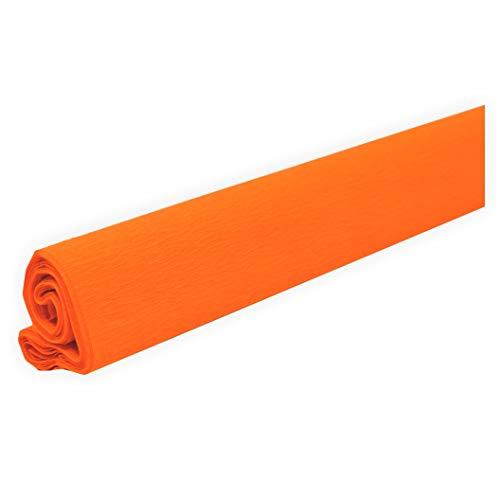 Krepppapier fein orange 50 x 250 cm ca. 31 g/m² Krepppapier zum basteln