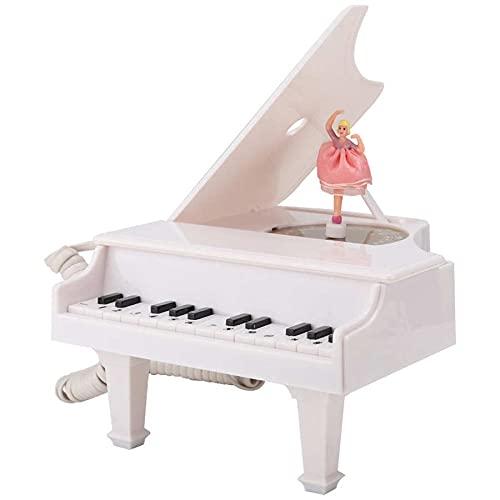 ELKeyko Multifuncional Forma de Piano Blanco Teléfono Teléfono Teléfono Decoración del hogar Conjunto Teléfono