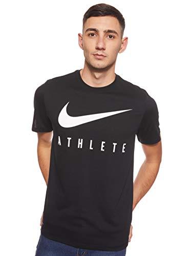 Nike Herren Dri-FIT Trainingsshirt, Black/White, L
