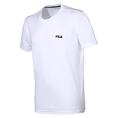 Fila Herren, S Logo T-Shirt Weiß, Dunkelblau, XL Oberbekleidung