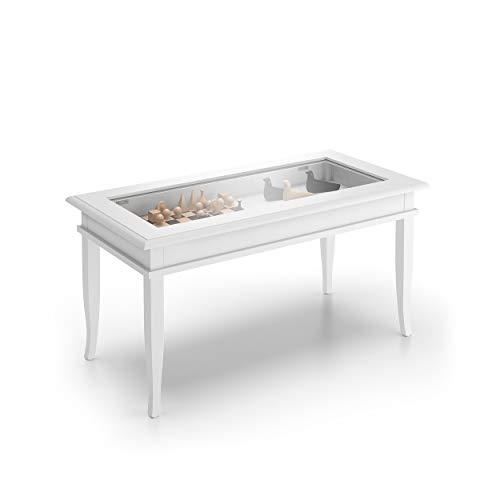 Mobilifiver Tavolino da Salotto, Classico, Bianco, 100 x 50 x 45 cm, Nobilitato/Vetro, Made in Italy, Disponibile in Vari Colori
