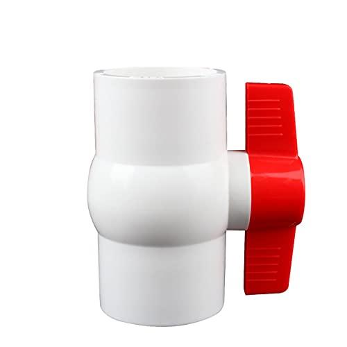 Válvula de bola de PVC, perilla de tubería de suministro de agua, conector de reparación, interruptor de tubería para conductos y accesorios de piscina de acuario