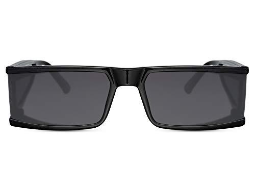 Cheapass Gafas de Sol Alta Costura Negras Estilo con Grande Patillas hecho de Material de Lente para Mujeres Protección UV400