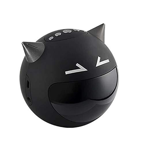 CVB Multifunktions Demon Digital Wecker Wireless Bluetooth Lautsprecher FM Radio Singende Uhr,Black