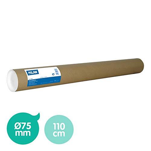 Milan - Tubo de cartón portaplanos Ø75 mm, 110 cm de longitud