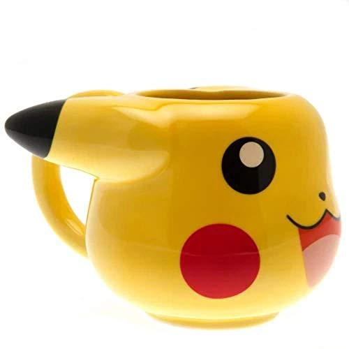 GB eye GYE-MGM0002 Taza de desayuno Pikachu, 475 milliliters, Cerámica, amarillo
