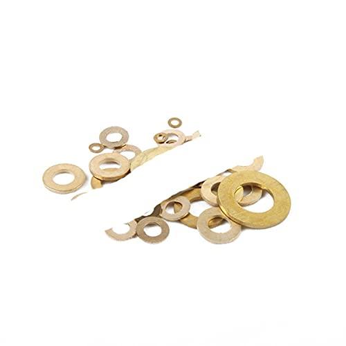 DIN125 ISO7089 M2 M2.5 M3 M4 M5 M6 M8 Meson Pad Hoja Metal Collar Arandela Plana Latón M16x30x2mm, 10pcs
