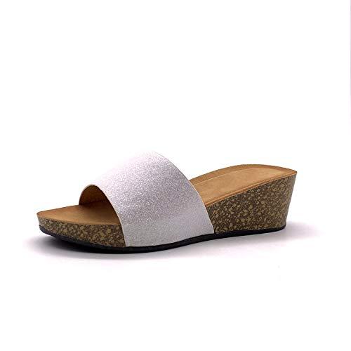 Angkorly - Zapatillas Moda Mules Sandalias