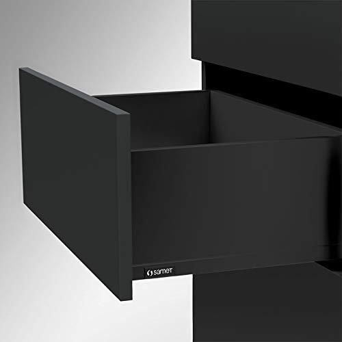 Schubladensystem SMARTFLOW Soft-Close Zargenhöhe 144 mm (lichte Korpushöhe 197 mm) Nennlänge 300 mm Tragkraft 40 kg anthrazit Schubkastensystem Vollauszug Küchenschublade von SO-TECH®