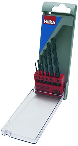 Hilka 49700006 HSS Drill Bit Set, Set of 6 Pieces